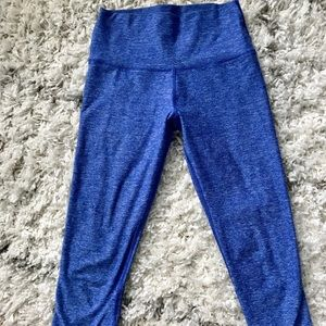 Pants - Bright blue capri 7/8 length workout leggings